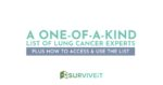 SURVIVEiT Lung Cancer Experts The Top Lung Cancer Doctors